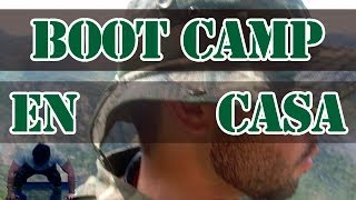 Cardio en casa. Boot Camp. Entrenamiento militar