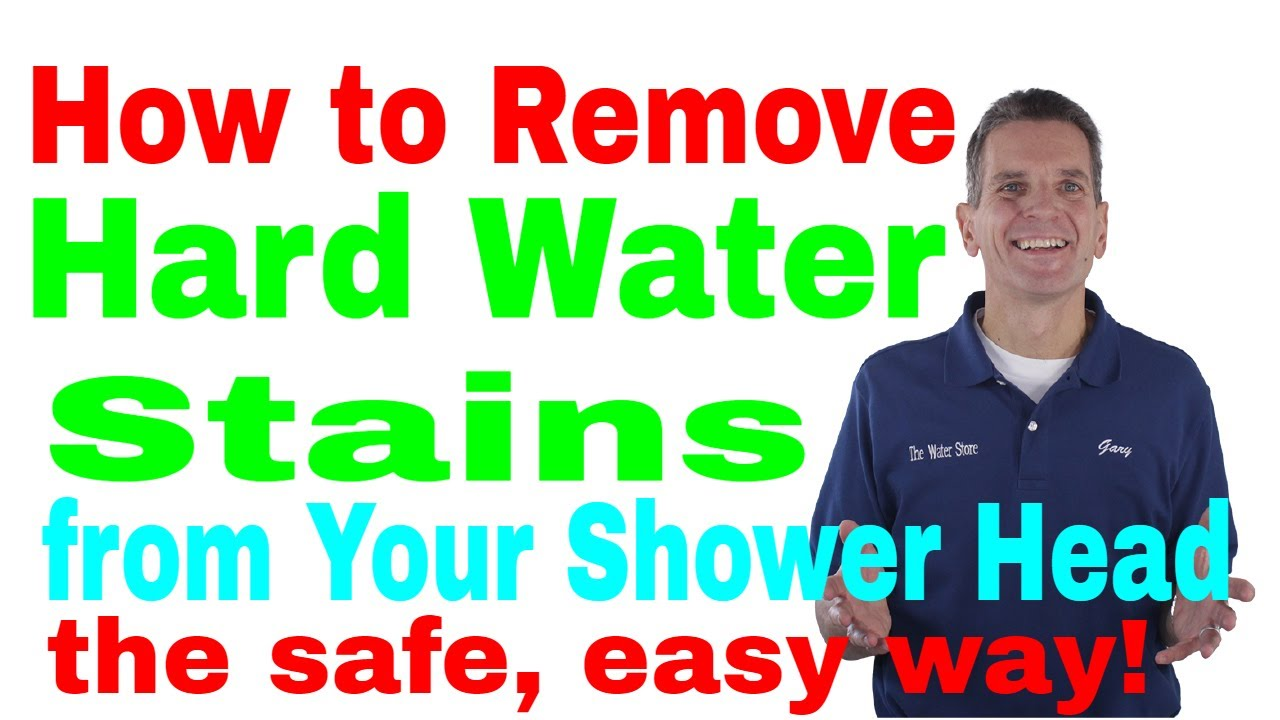how to clean shower glass hard water stains