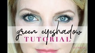 How to Create a GREEN Smokey Eye for Mature, Hooded Eyes