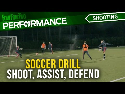 Soccer shooting drill | Shoot, Assist, Defend | Swansea City Academy