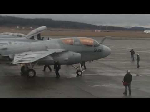 The last VAQ-129 Prowler departs NAS Whidbey Island