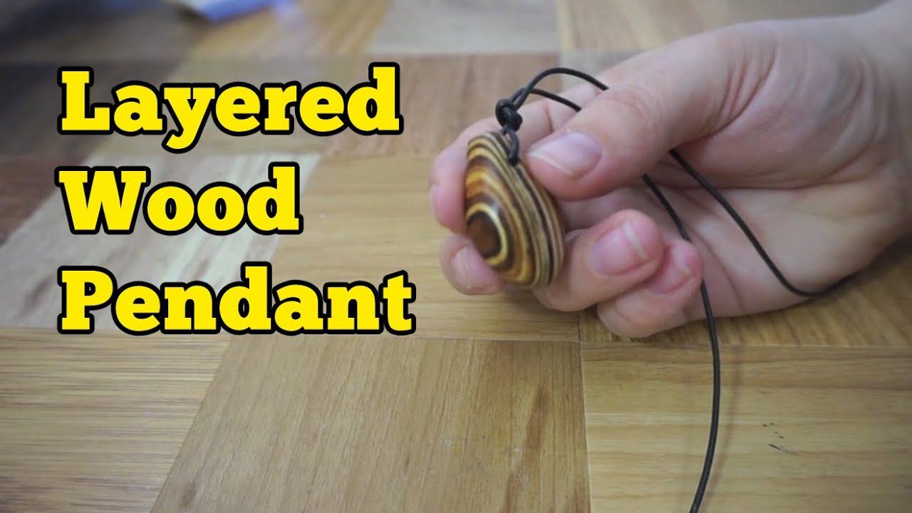 Layered wood pendant necklace barb makes things 5 youtube mozeypictures Choice Image