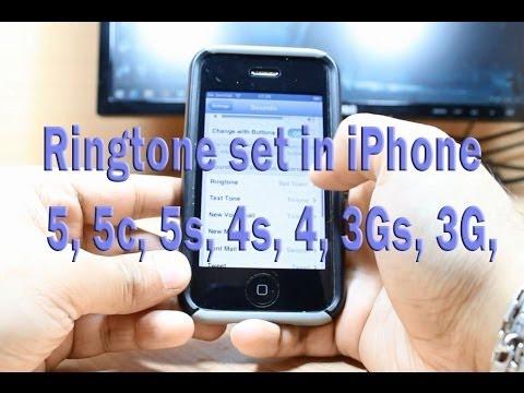 Ringtone set in iPhone 5, 5c, 4s, 3G