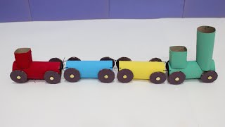 Kids' Craft Stop Motion: How To Make A Rainbow Train With Toilet Rolls