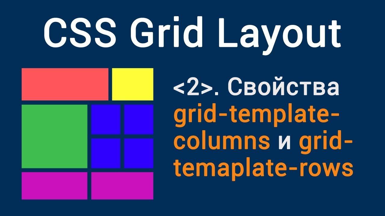 Urok 2 Css Grid Layout Svojstva Grid Template Columns I Grid