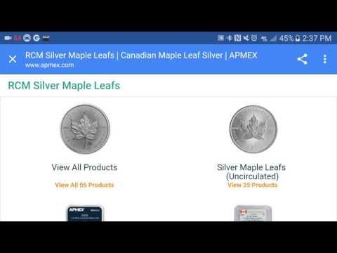 Canada 1 oz Silver Maple Leaf Coins