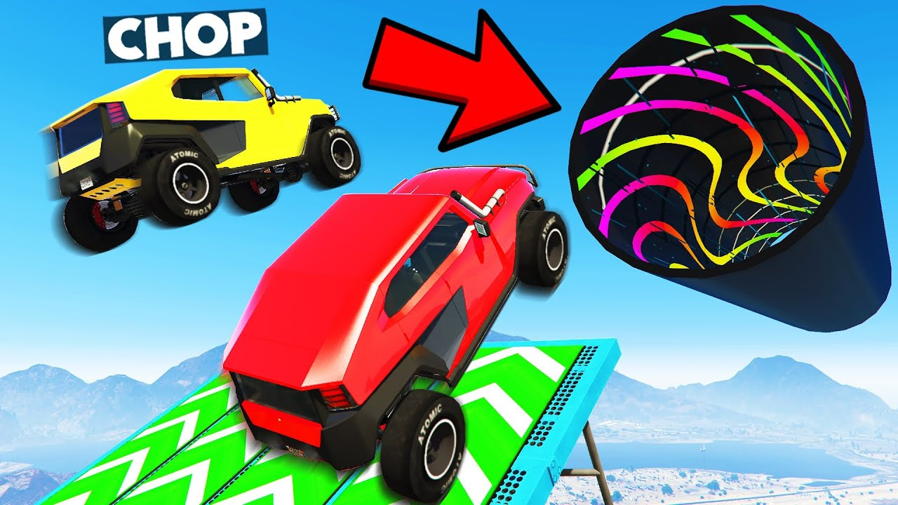 GTA 5: YOU WON'T BELIEVE WHAT HAPPENED IN THIS AMAZING PARKOUR RACE with CHOP & BOB (GTA V #6)