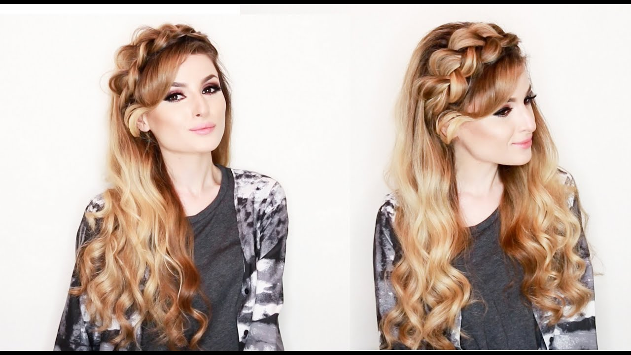 Romantic valentines day, prom and wedding hairstyle! - YouTube