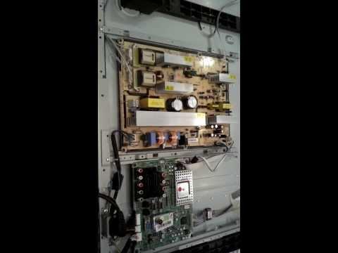 видео: ремонт самсунга жк. телевизора 46 дюймов 81 с .блок питания