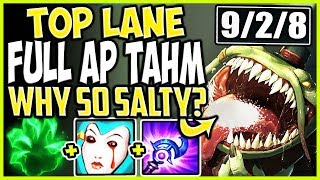 TOP LANE FULL AP TAHM SEASON 9 BUILD! WHY SO SALTY MY DEAR FOOD? TOP Tahm Season 9 Ranked Gameplay