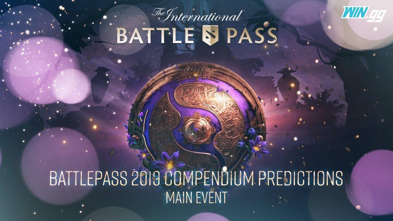 The International 2019 Battle Pass compendium predictions