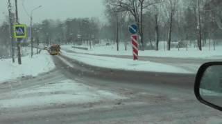 Автонакат - Практический экзамен в ГИБДД  в зимнее время .1 часть.