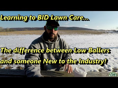 Learning to BID, the difference between Low Ballers and someone New to the Industry!