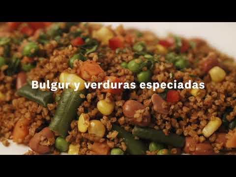 Thumbnail to launch Bulgur & Spiced Vegetables Spanish video