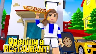 LITTLE CARLY OPENS A RESTURANT!! (Little Carly Roblox)