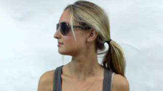 Dolce & Gabbana DG 2122 12098G Gunmetal Aviator Sunglasses Grey Gradient Lens