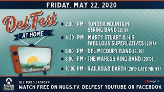 DelFest At Home: Yonder, Marty Stuart, Del McCoury Band, Marcus King, Railroad Earth