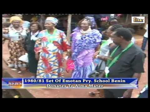 1980/81 Set Of Emotan Primary School Benin Donates To Alma Mater