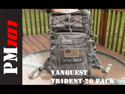 Vanquest Trident-20 Pack  Best EDC Urban Backpack - YouTube 648a6be7a4