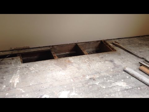 Our Kitchen Renovation Part X Replacing Rotted Floor Boards