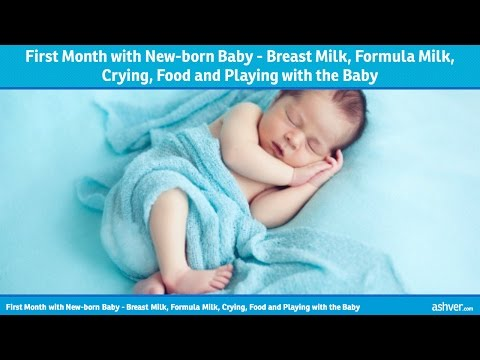First Month with Newborn Baby – Breast Milk, Formula Milk, Crying, Food and Playing with the Baby