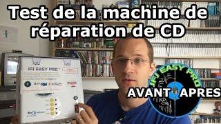 Test de la machine à réparer un cd rayé et dvd hs : JFJ EASY PRO