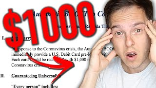 $1000 Per Month For EVERYONE | New Stimulus Explained