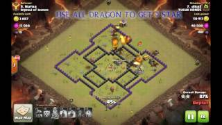 clash of clans | coc animation movie strategy dragon attacks 3 star war base | game town hall 8