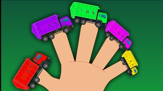 Garbage Truck  Finger Family | Car Songs For Kids