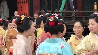 祇園 都をどり終了奉告祭の舞妓(Maiko)さんたち