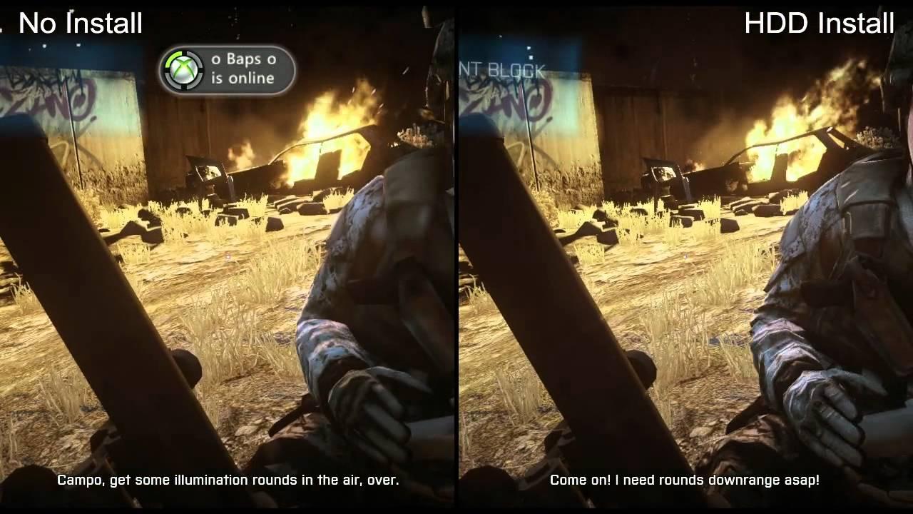 Modern Warfare 2 Hd Wallpaper Battlefield 3 Xbox 360 Sd No Install Vs Hd Hdd Install