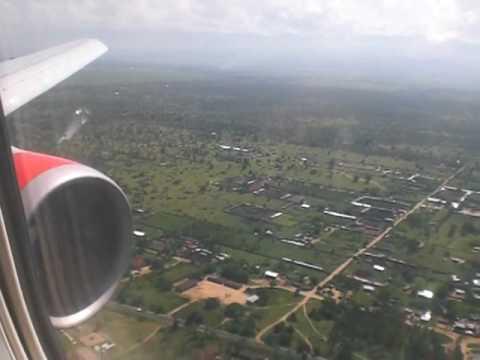 B767 Kenya Airways landing at Bujumbura - Burundi