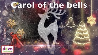 Carol of the Bells with lyrics ⒹⒺⓋⒶ Christmas song for kids