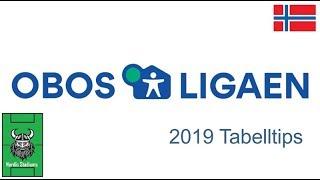 Tabelltips Obos Ligaen 2019 (1. Divisjon Norge)