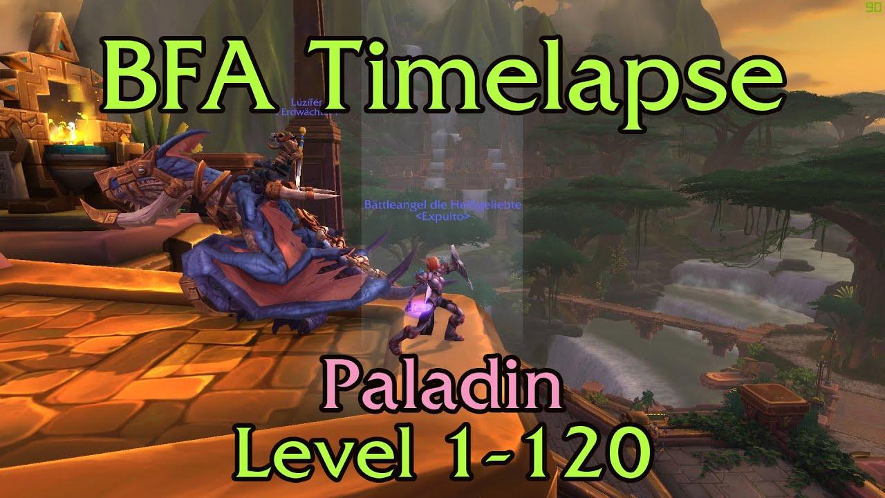 World of Warcraft BFA - Paladin - Leveling Timelapse (1-120)