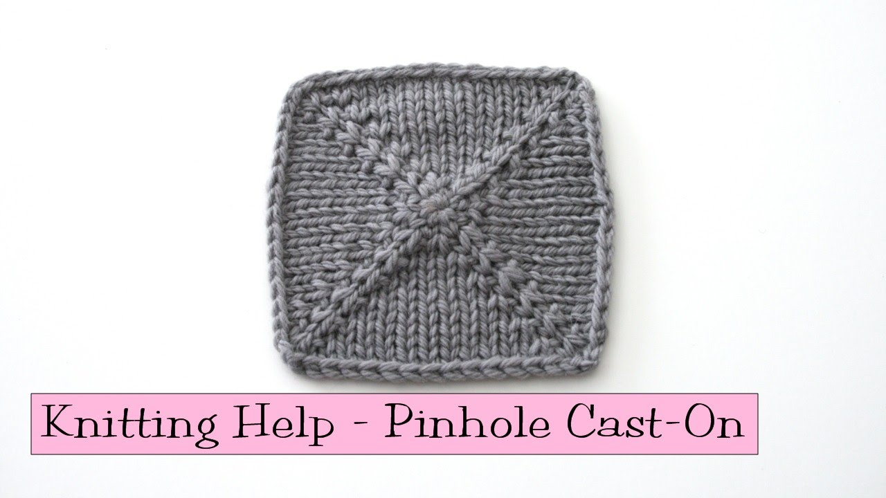 Kfb Knitting Help : Knitting help pinhole cast on funnydog tv