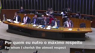 Eduardo Bolsonaro defende Israel em sessão solene da Al Quds (POR/ENG)