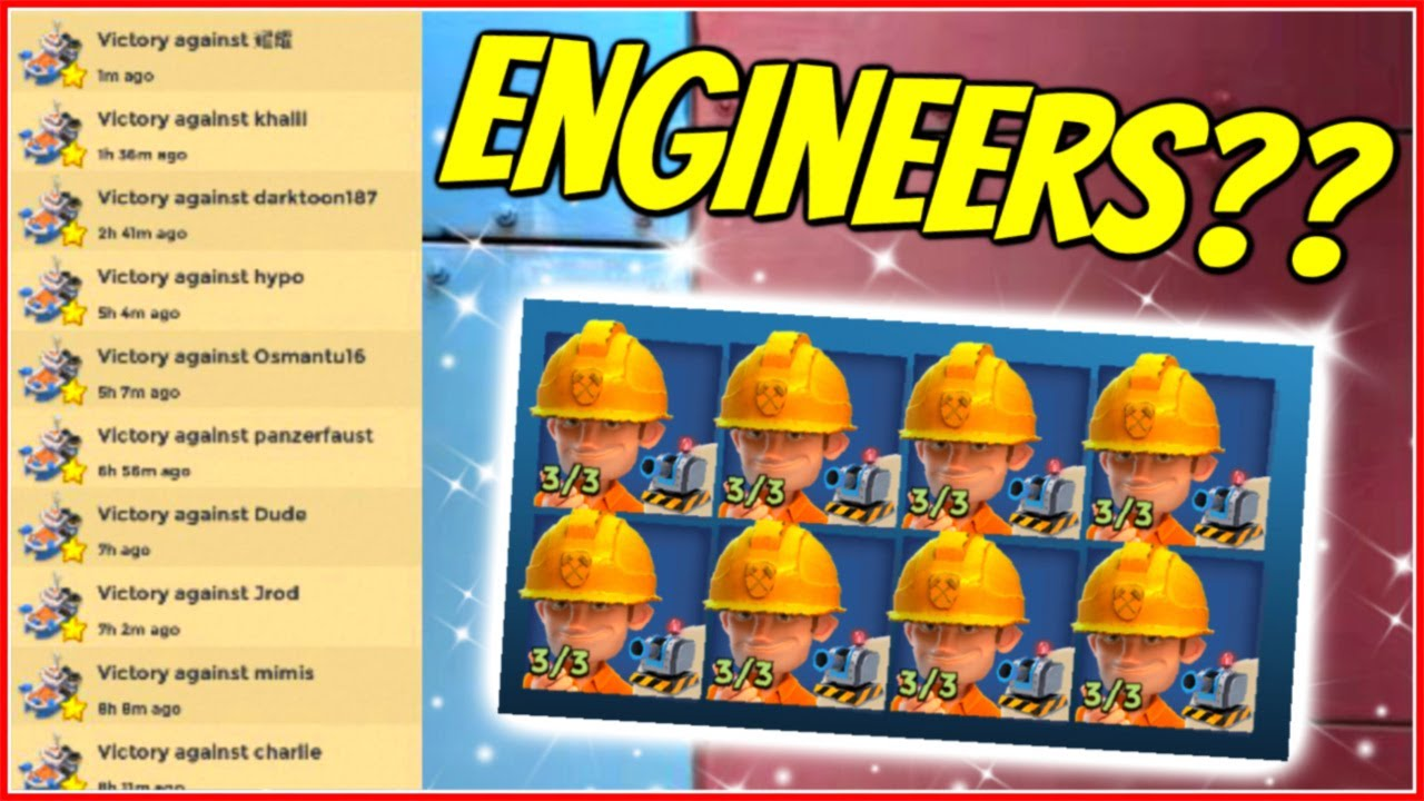 Are ENGINEERS the Answer? // Boom Beach Warships