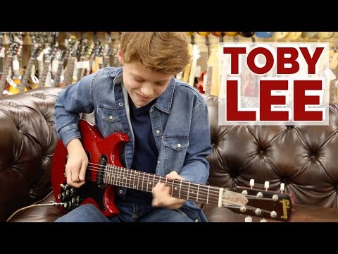 Wow!!! Toby Lee playing a 1965 Gibson Les Paul Melody Maker at Norman's Rare Guitars