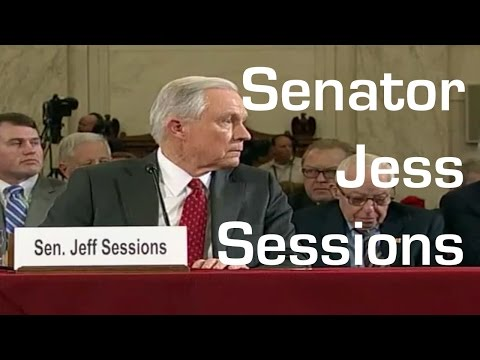 Donald Trump Attorney General Jess Sessions Hearing ; woman ejected