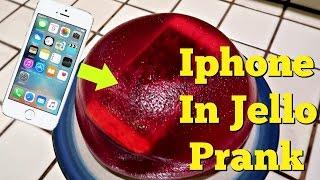 IPHONE IN JELLO PRANK - Top Husband Vs Wife Pranks
