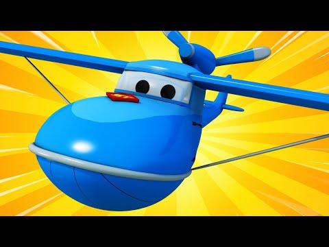 Грузовик Гидросамолёт! - Трансформер Карл в Автомобильный Город 🚚 ⍟ детский мультфильм