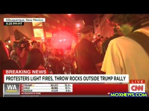 "CNN Cuts To Protesters Chanting ""FUCK DONALD TRUMP"" In Albuquerque New Mexico!"