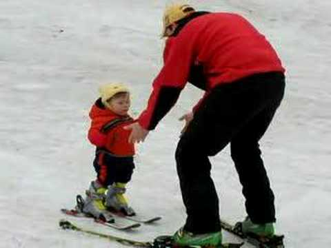 Baby Skiing At 11 Months Youtube