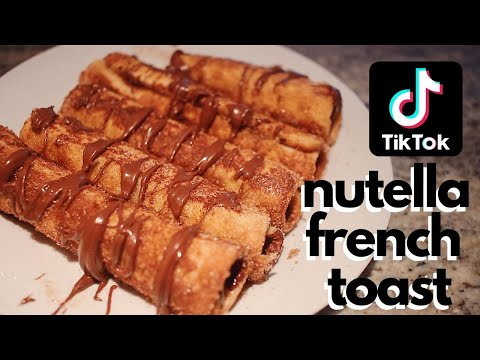 how-to-make-nutella-french-toast-//-tik-tok-food