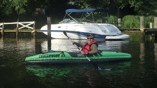 intex challenger k1 inflatable kayak review
