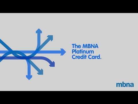 The MBNA Platinum Credit Card.