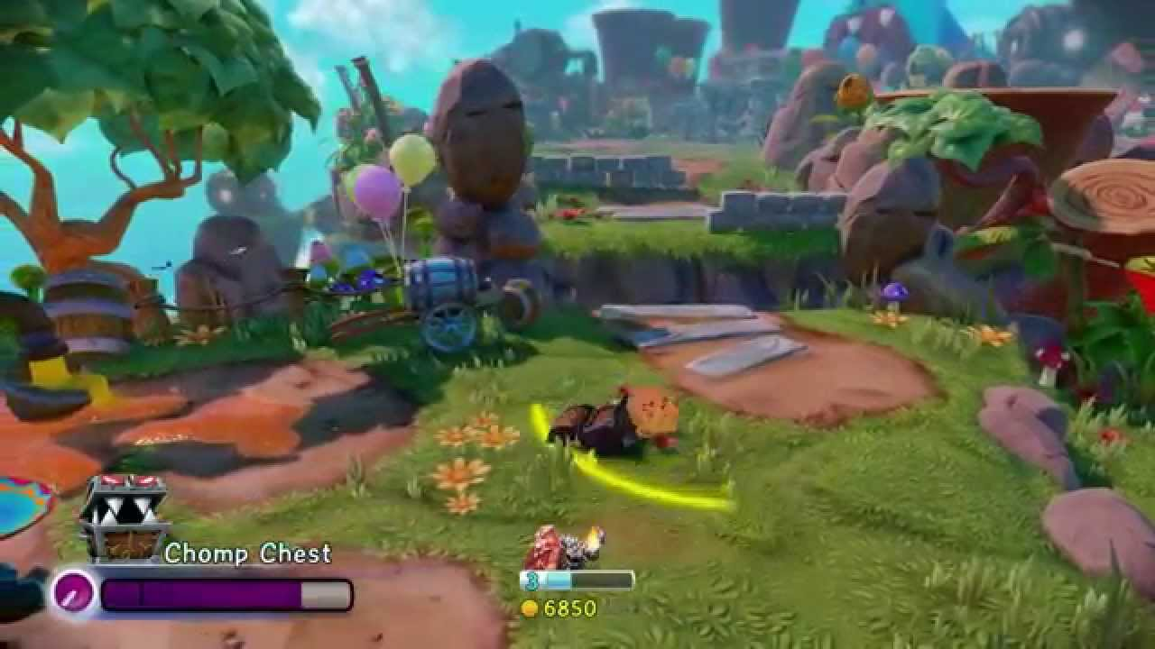 skylanders trap team gold trick with chomp chest
