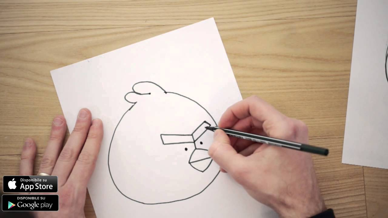 Come disegnare angry birds youtube for Disegni di natale facili per bambini