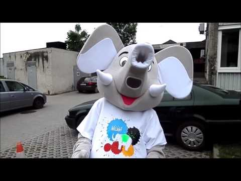 Elabika mascot costumes Elephant costumes advertisement from Bielany promotional costumes Warsaw
